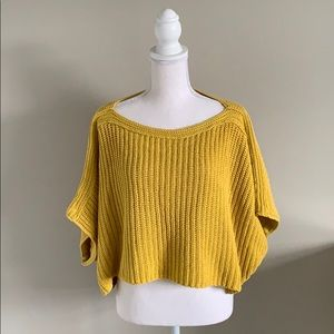 Boat Neck Cropped Anthropologie Sweater Sz Small